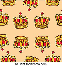 Pattern red crown style collection
