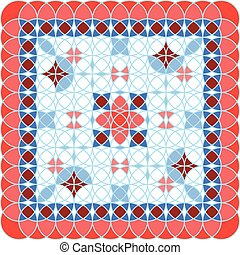 Pattern red vector illustration isolated conception art