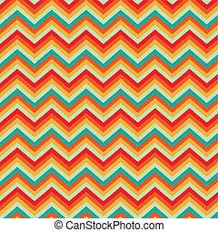 Pattern Retro Zig Zag Chevron - Illustration background...
