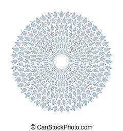 pattern., ronde, ontwerp, geometrisch, cirkel, element.