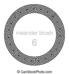 pattern round ornament meander