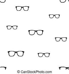 pattern., seamless, óculos