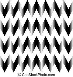 pattern., seamless, ジグザグ