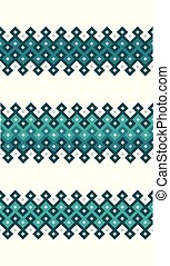 pattern., seamless, ベクトル, 東洋人, アラビア, ボーダー, 幾何学的