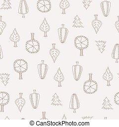 pattern., seamless, 創造的, 秋, 引かれる, 手, textures.