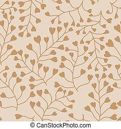 pattern., seamless, 植物群