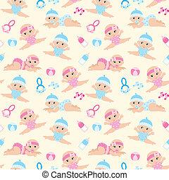 pattern., seamless, baby's