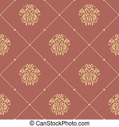 Pattern seamless baroque style. Floral damask design...