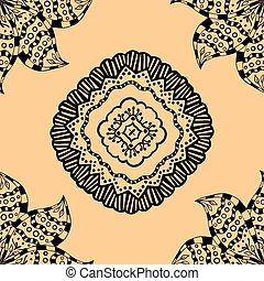 pattern., seamless, beige