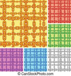 pattern., seamless, chaîne