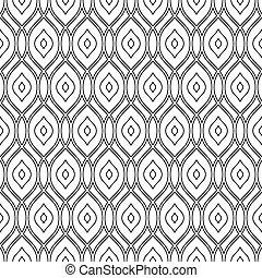 pattern., seamless, couleurs, vecteur, noir, blanc