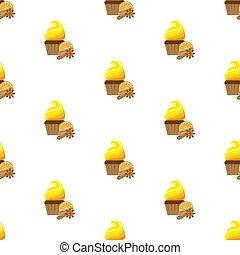 pattern., seamless, cupcake.