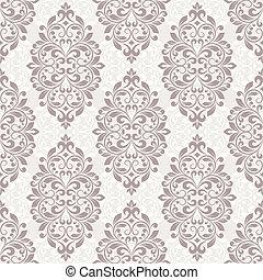 pattern., seamless, damassé