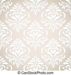 pattern., seamless, damast