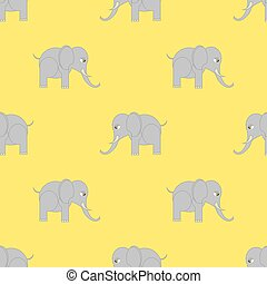 pattern., seamless, elefant