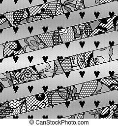 pattern., seamless, encaje