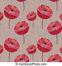 pattern., seamless, floral
