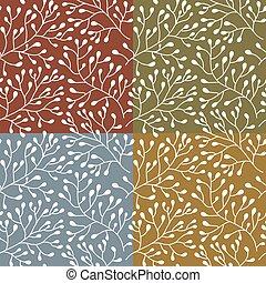 pattern., seamless, floreale