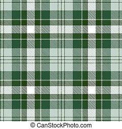 pattern., seamless, fondo., verde, tartan, bianco, plaid., flanella