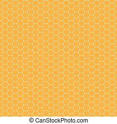 pattern., seamless, hexagones, fond, géométrique, rayon miel