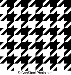 pattern., seamless, houndstooth