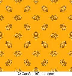 pattern., seamless, jaune, abeille, miel, vecteur, fond