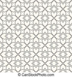 pattern., seamless, kleuren, vector, black , floral, witte
