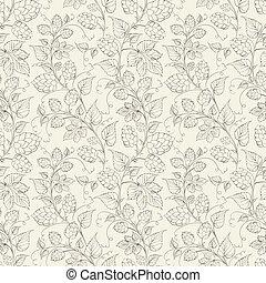 pattern., seamless, luppolo