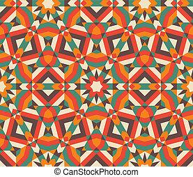 pattern., seamless, mosaïque