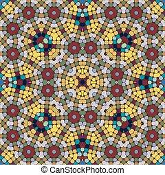 pattern., seamless, mosaico