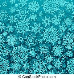 pattern., seamless, neige, vecteur, flocons, 8, eps