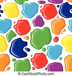 Pattern seamless of paints drops an