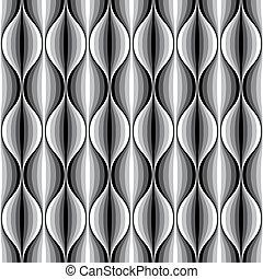 pattern., seamless, ondulé, monochrome, géométrique, revêtu