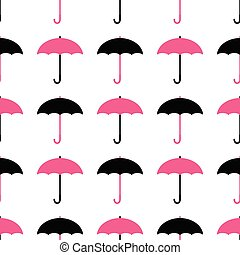 pattern., seamless, parapluies