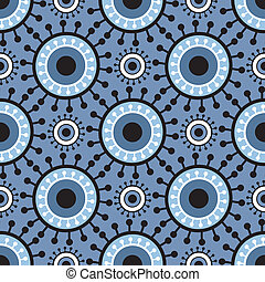 pattern seamless retro circles
