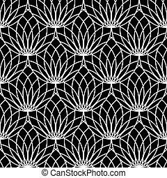 pattern., seamless, spitzenartig