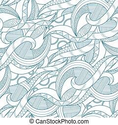 pattern., seamless, stam, etnisk
