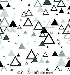 pattern., seamless, textura, escandinavo, fundo, geomã©´ricas, triângulos
