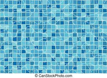 pattern., seamless, texture, tiles., eau, mosaïque, surface., piscine, natation