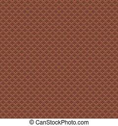 pattern., seamless, textuur, wafel, achtergrond., vector, chocolade