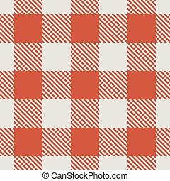 pattern., seamless, vecteur, nappe, blanc rouge