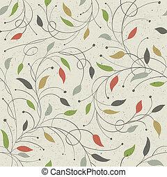 pattern., seamless, virágos