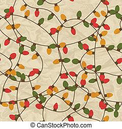 pattern., seamless, vrolijk, jaar, nieuw, kerstmis, vrolijke