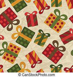 pattern., seamless, wesoły, rok, nowy, boże narodzenie, szczęśliwy