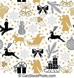 Pattern seamless with Christmas symbols