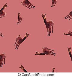 pattern, seamless with the image of a llama