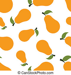 Pattern Silhouette Pears - seamless texture of colored...