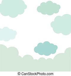 pattern sky with blue clouds
