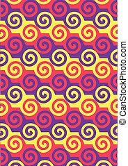 pattern., spirál, színes