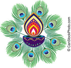 Pattern - Stock Vector Illustration: Indian new year oil...